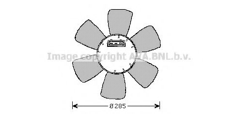 Вентилятор, охлаждение двигателя AVAQUALITYCOOLING арт. VW7523