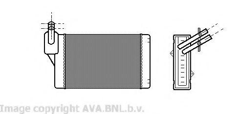 Теплообменник, отопление салона AVAQUALITYCOOLING арт. VWA6060
