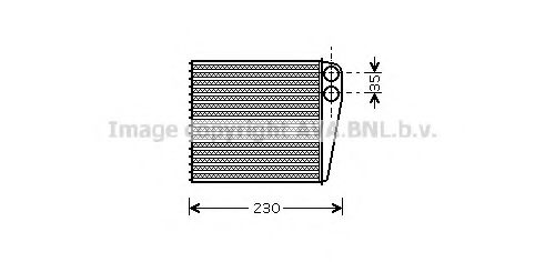 Теплообменник, отопление салона AVAQUALITYCOOLING арт. VWA6229