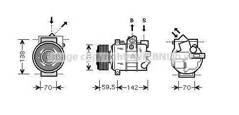 Компрессор, кондиционер AVAQUALITYCOOLING арт. VWAK220
