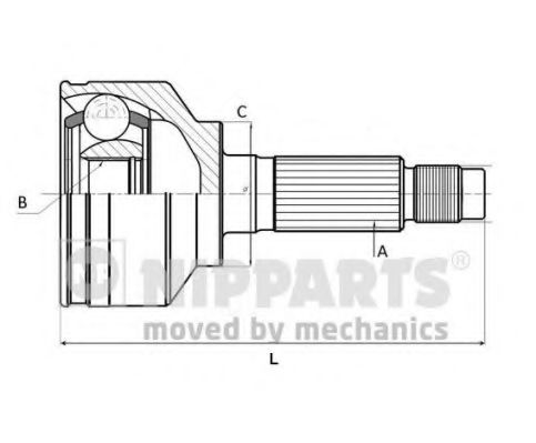 Шарнирный комплект, приводной вал NIPPARTS арт. J2825015