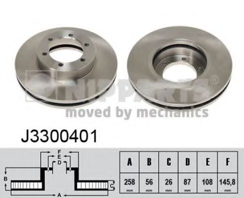 Тормозной диск NIPPARTS арт. J3300401