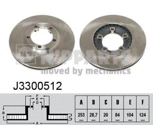 Тормозной диск NIPPARTS арт. J3300512