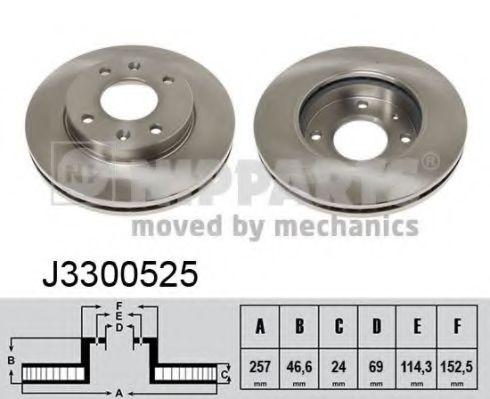 Тормозной диск NIPPARTS арт. J3300525