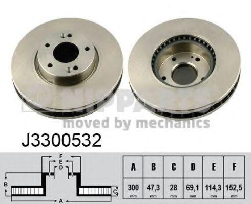 Тормозной диск NIPPARTS арт. J3300532