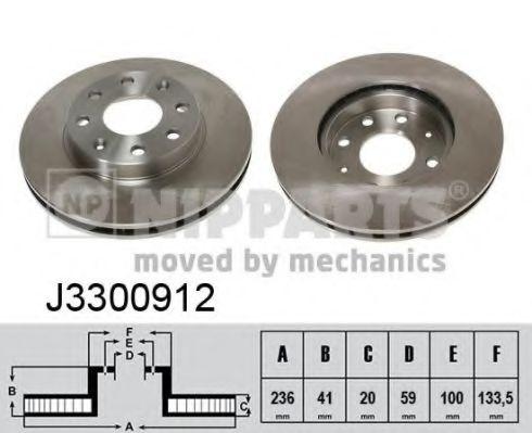 Тормозной диск NIPPARTS арт. J3300912