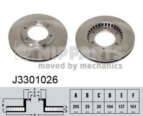Тормозной диск NIPPARTS арт. J3301026