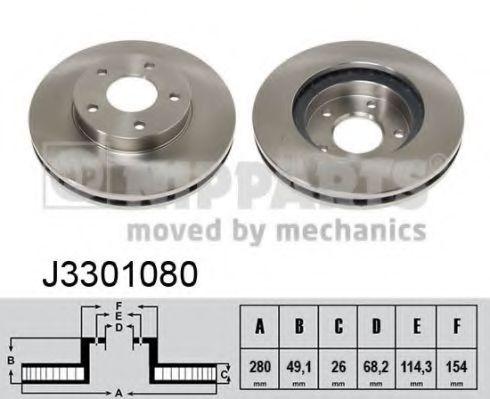 Тормозной диск NIPPARTS арт. J3301080