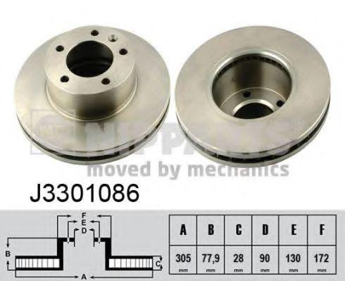 Тормозной диск NIPPARTS арт. J3301086