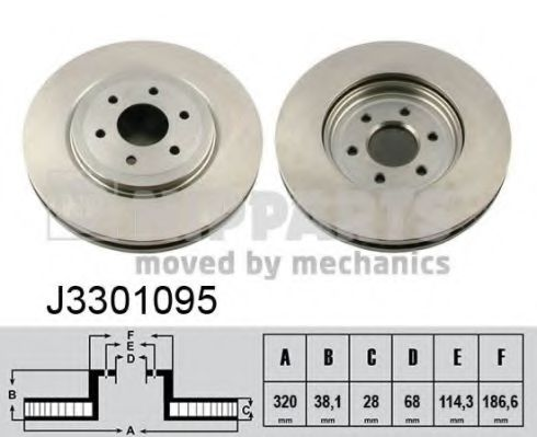 Тормозной диск NIPPARTS арт. J3301095