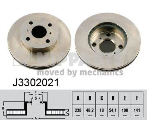 Тормозной диск NIPPARTS арт. J3302021