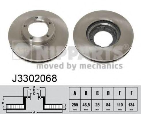Тормозной диск NIPPARTS арт. J3302068