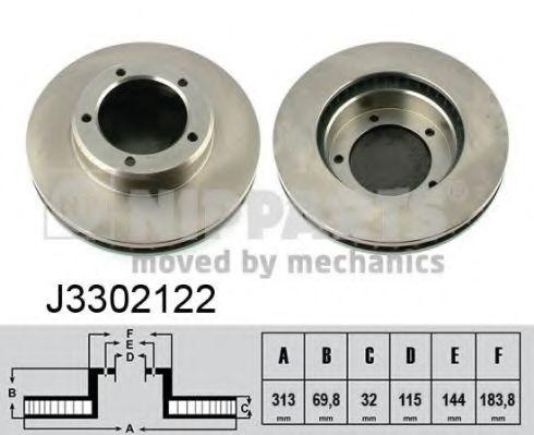 Тормозной диск NIPPARTS арт. J3302122