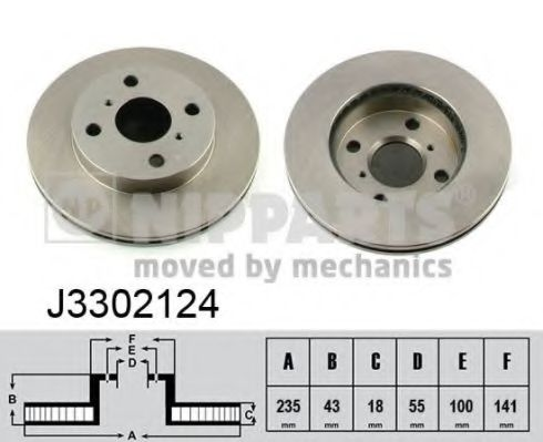 Тормозной диск NIPPARTS арт. J3302124