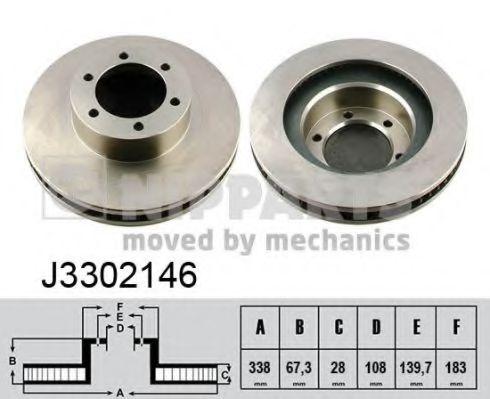 Тормозной диск NIPPARTS арт. J3302146
