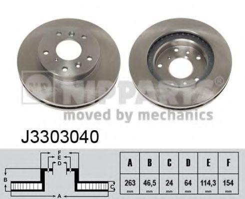 Тормозной диск NIPPARTS арт. J3303040