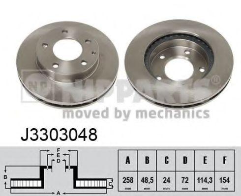 Тормозной диск NIPPARTS арт. J3303048
