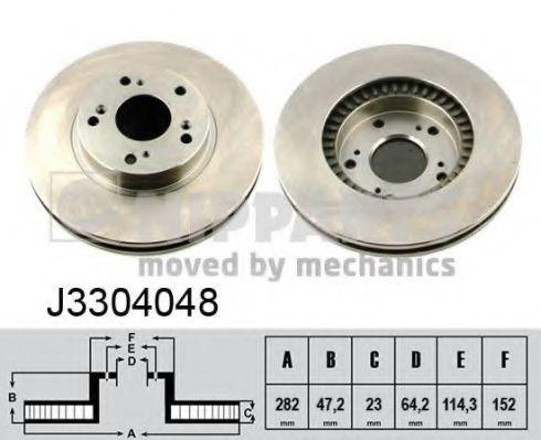 Тормозной диск NIPPARTS арт. J3304048