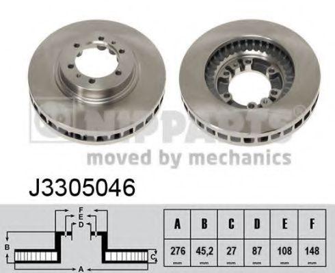 Тормозной диск NIPPARTS арт. J3305046