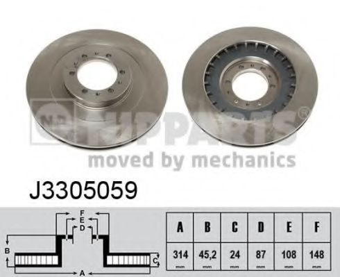 Тормозной диск NIPPARTS арт. J3305059