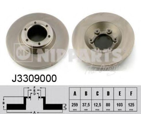 Диск гальмівний Nipparts J3309000
