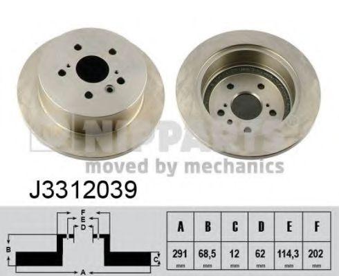 Тормозной диск NIPPARTS арт. J3312039