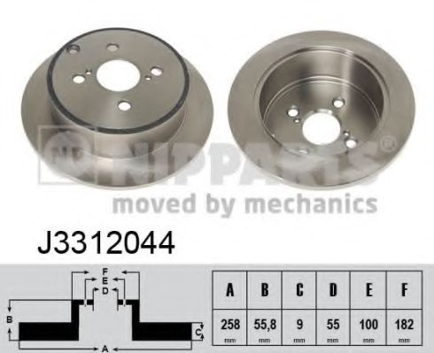 Тормозной диск NIPPARTS арт. J3312044