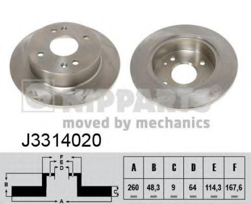 Тормозной диск NIPPARTS арт. J3314020