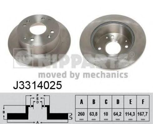 Диск гальмівний Nipparts J3314025