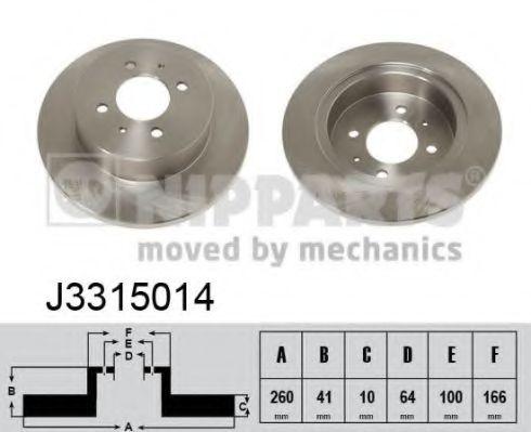 Тормозной диск NIPPARTS арт. J3315014