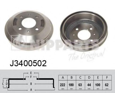Тормозной барабан NIPPARTS арт. J3400502