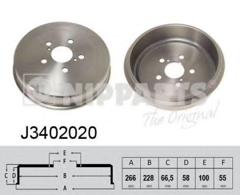 Тормозной барабан Nipparts - J3402020