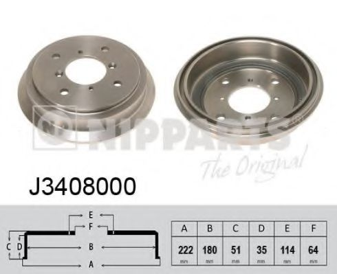 Тормозной барабан Nipparts - J3408000