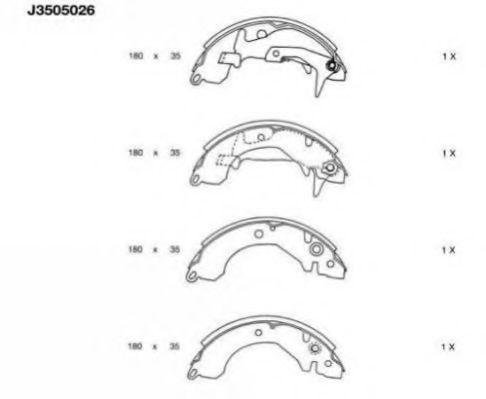 Комплект тормозных колодок NIPPARTS арт. J3505026