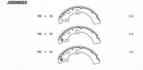 Комплект тормозных колодок NIPPARTS арт. J3508022