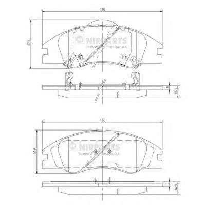 Комплект тормозных колодок, дисковый тормоз NIPPARTS арт. J3600326