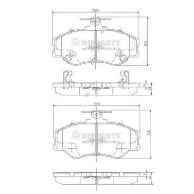 Комплект тормозных колодок, дисковый тормоз NIPPARTS арт. J3600513