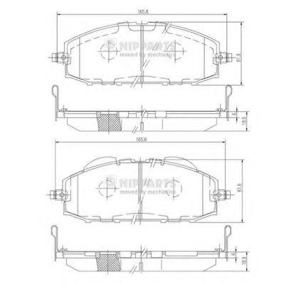 Комплект тормозных колодок, дисковый тормоз NIPPARTS арт. J3601070