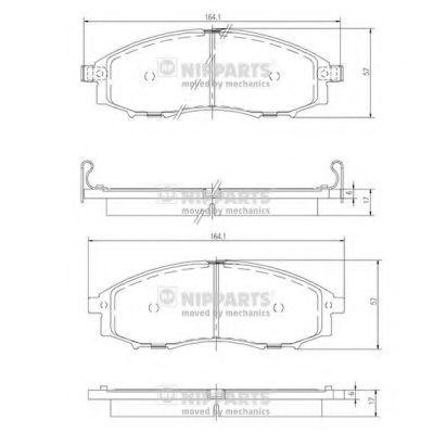 Колодки гальмівні дискові Nipparts J3601088