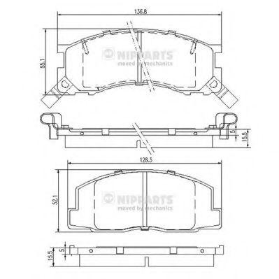 Колодки гальмівні дискові Nipparts J3602050