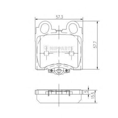 Колодки гальмівні дискові Nipparts J3612017