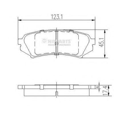 Комплект тормозных колодок, дисковый тормоз NIPPARTS арт. J3612022