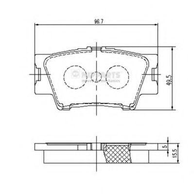 Комплект тормозных колодок, дисковый тормоз NIPPARTS арт. J3612035