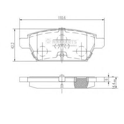 Комплект тормозных колодок, дисковый тормоз NIPPARTS арт. J3613019
