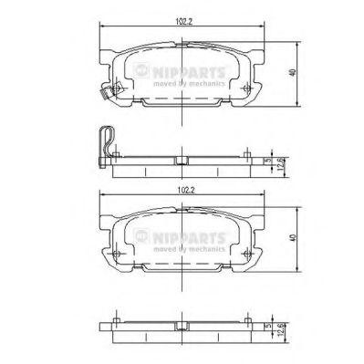 Колодки гальмівні дискові Nipparts J3613020