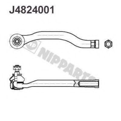 Наконечник поперечной рулевой тяги NIPPARTS арт. J4824001