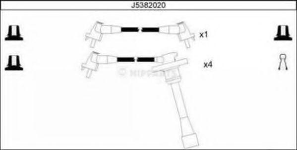 Комплект проводов зажигания NIPPARTS арт. J5382020