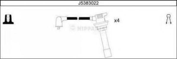 Комплект проводов зажигания NIPPARTS арт. J5383022