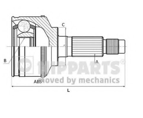 Шарнирный комплект, приводной вал NIPPARTS арт. N2821050