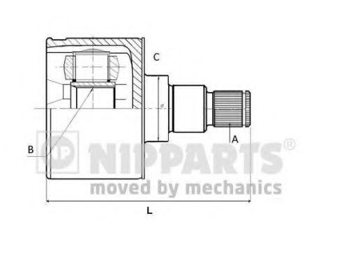 Шарнiр приводного вала Nipparts N2830504